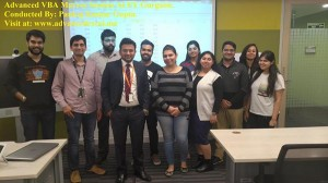 Advanced VBA Macros Sessions at EY Gurgaon.